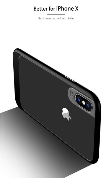 Luxury Transparent Acrylic Back with Soft TPU Bumper Frame Back Cover for Apple iPhone XS 2018 - Black