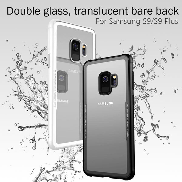 Premium Anti Scratch HD Clear 9H Hardness Tempered Glass Back Case Cover for Samsung Galaxy S9