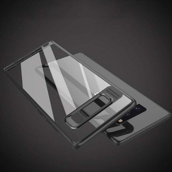 Premium Transparent Hard Acrylic Back with Soft TPU Bumper Case for Samsung Galaxy Note 8 - BLACK