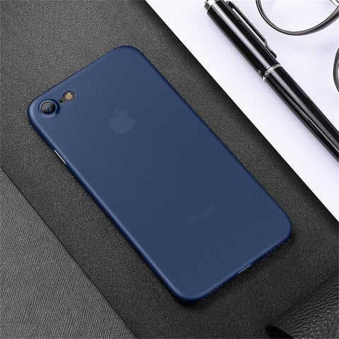 Premium Feather Series Paper Thin 0.2mm Protection Case Back Cover for Apple iPhone 7 - BLUE