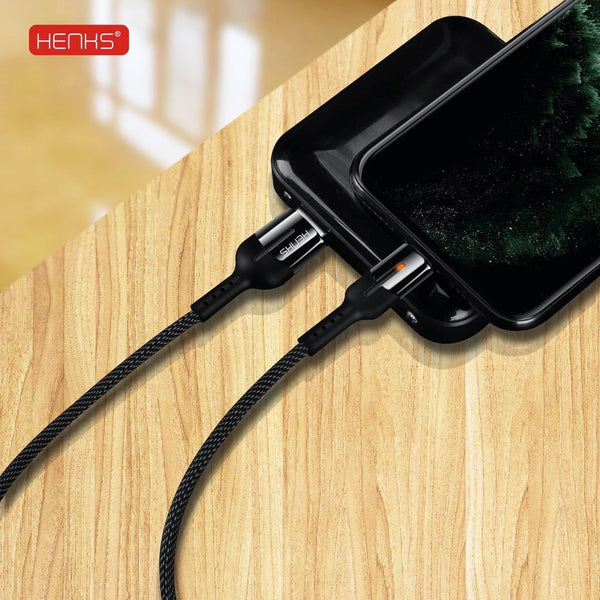 Henks® Armor Auto Disconnect Lightning Data Sync Cable for Apple iPhone