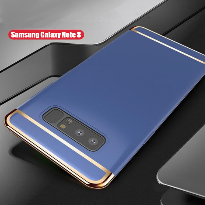 Luxury Ultra Slim 3in1 Gold Electroplating Hard Back Case Cover for Samsung Galaxy Note 8