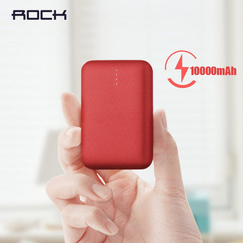 Rock P51 Matte Finish QC 3.0 Mini External Battery 10,000 mAh Mini PowerBank