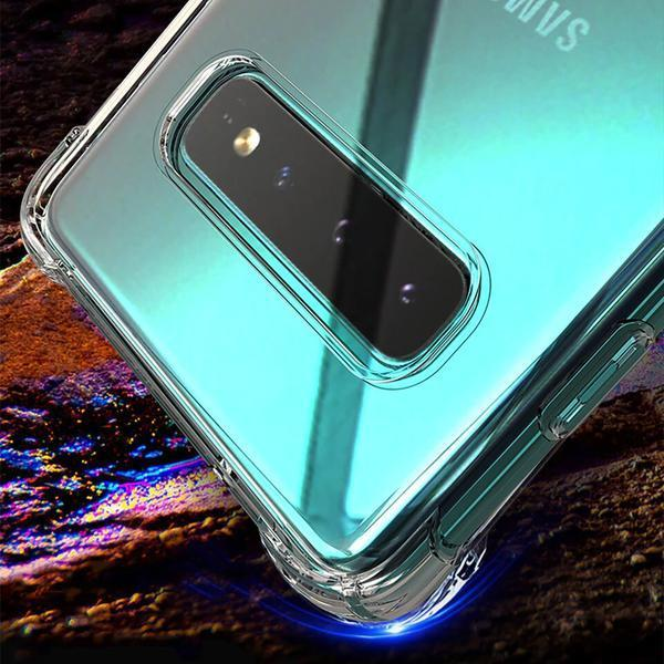 Premium Clear Transparent Air Bag Safety Protection Back Case for Samsung Galaxy S10 Plus