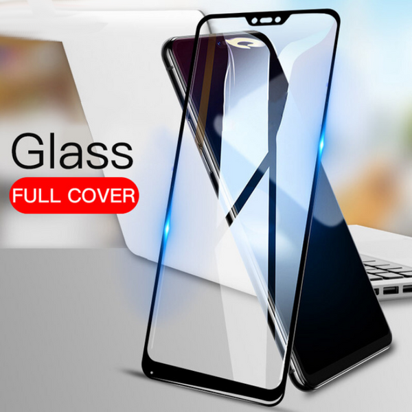 Premium Henks 5D Pro Full Screen Coverage Full Glue Curved Edges Anti Shatter Tempered Glass Screen Protector for Xiaomi Redmi Note 6 Pro - BLACK