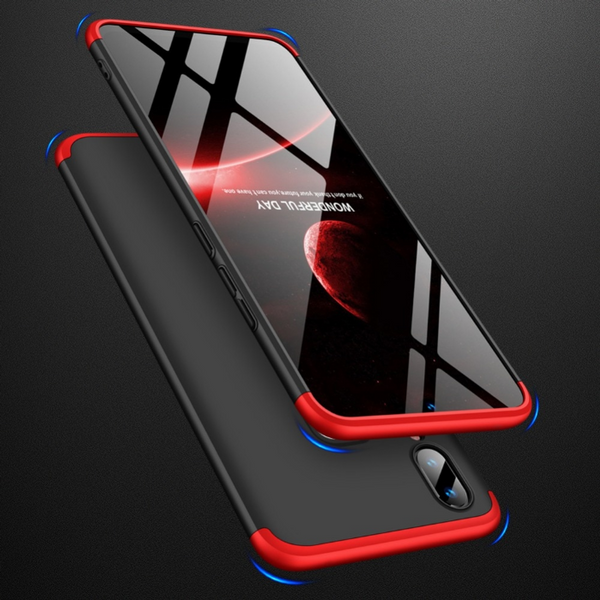 Premium Ultra Slim 3in1 360 Body Full Protection Hard Matte Front + Back Cover for Vivo V11 Pro