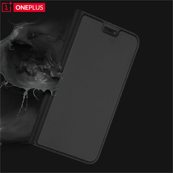 Luxury Smooth & Silky Skin Series PU Leather Wallet Flip Case Cover Folio for OnePlus 6