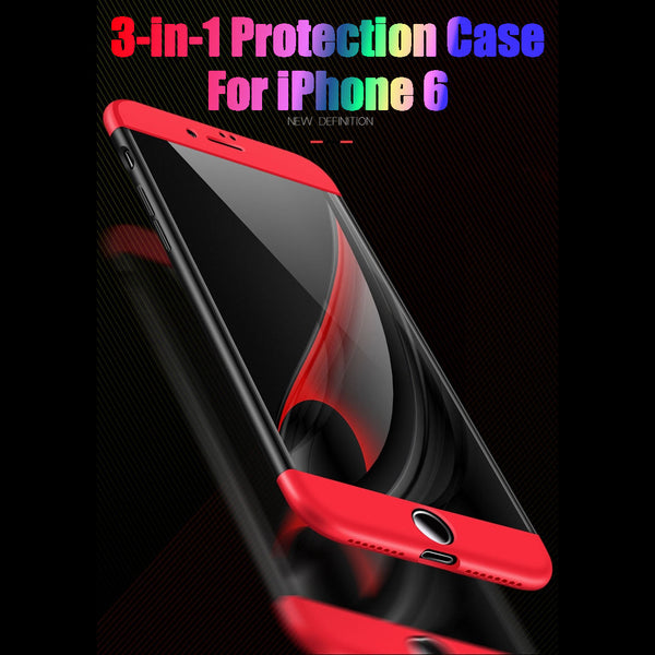 Premium Ultra Slim 3in1 360 Body Full Protection Hard Matte Front + Back Cover for Apple iPhone 6 / 6S