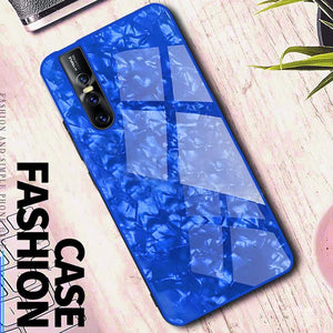 Luxury Explosion Proof Marble Pattern Tempered Glass Hard Back Case for Vivo V15 Pro