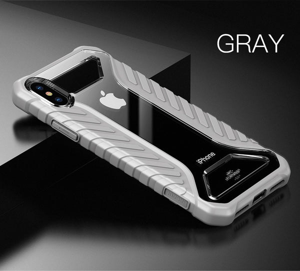 Luxury Hybrid Armor Michelin Tyre Texture Drop Resistance Back Case for Apple iPhone XS Max