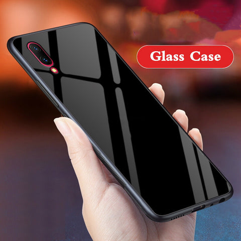 Explosion Proof 9H Hard Tempered Glass Back Case for Vivo V11 Pro - BLACK