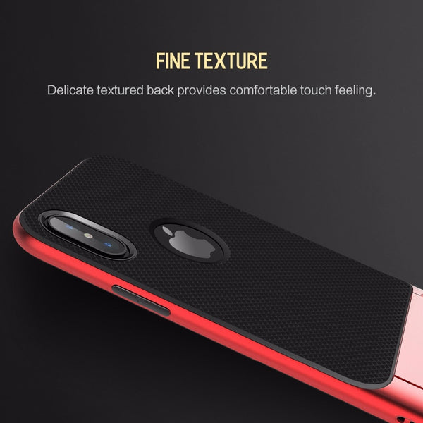 Premium Anti Knock 3D Kickstand TPU+PC Holder Stand Back Case Cover for Apple iPhone X