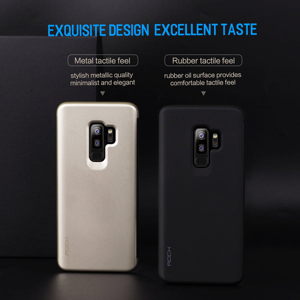 Premium Smart View 360 Full Body Protection Touchable Flip Case Cover for Samsung Galaxy S9 Plus - BLACK