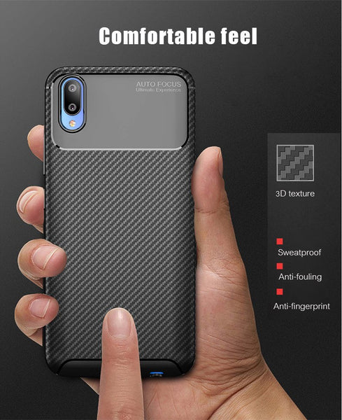 Luxury Shockproof Hybrid Armor Soft Silicone Carbon Fiber Case for Vivo V11 Pro