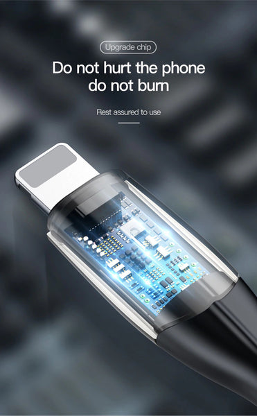 Baseus 2.4A Fast Charging Lightning USB Data Cable cum Charging Cable for iPhone