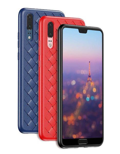 Premium Weaving Grid Breathable Soft Silicone Back Case Cover for Vivo V11 Pro