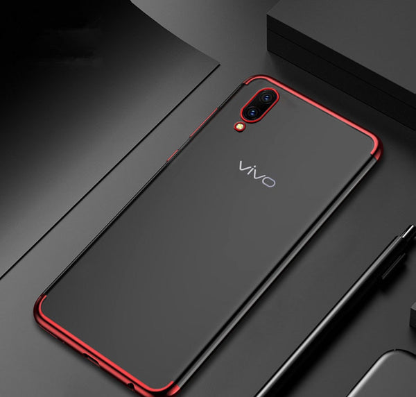 Luxury Laser Plating Utra Thin Transparent Hard Back Case for Vivo V11 Pro