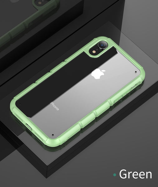 Baseus Coque Silicone PC Hybrid Shockproof Protective Back Cover Armor Tank Case For iPhone XR
