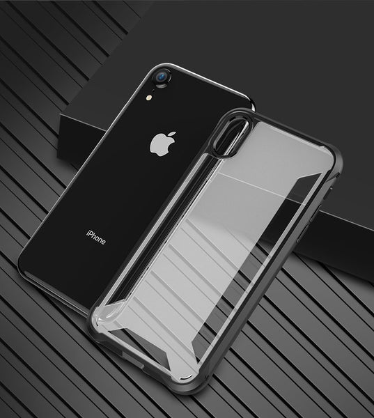 "Premium Hybrid Protection Heavy Duty Soft TPU+ Hard PC Clear Case for Apple iPhone XR (6.1"")"