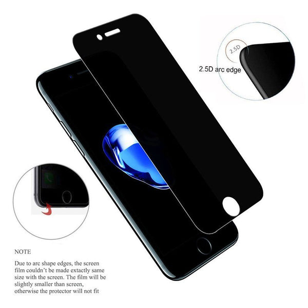 Premium Henks 5D Pro Full Glue Anti Spy Privacy Screen Anti Shatter Tempered Glass Screen Protector for Apple iPhone X / XS