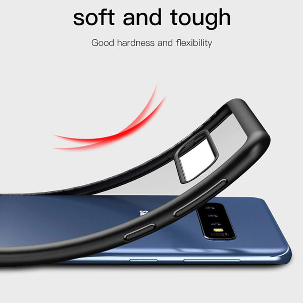 Premium Avenza Hard Acrylic Back Case with Soft TPU Edges for Samsung Galaxy S10