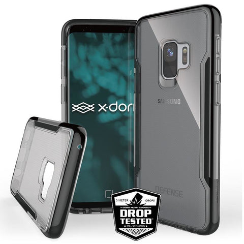 Luxury X-Doria Defense Clear Shockproof TPU+ PC Back Case for Samsung Galaxy S9