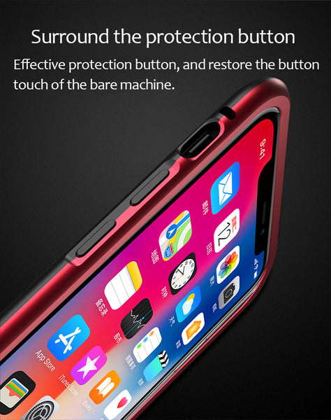 Luxury Magnetic Adsorption Metal Bumper Frame 9H Tempered Glass Back Case for Apple iPhone 8