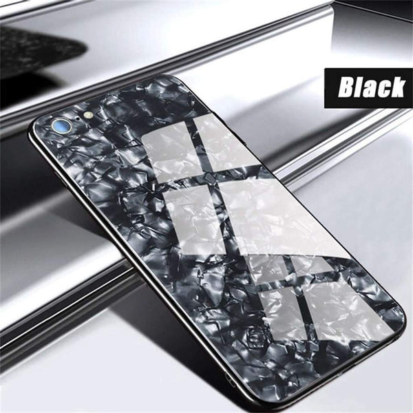Luxury Explosion Proof Marble Pattern Tempered Glass Hard Back Case for Apple iPhone 6 / 6S