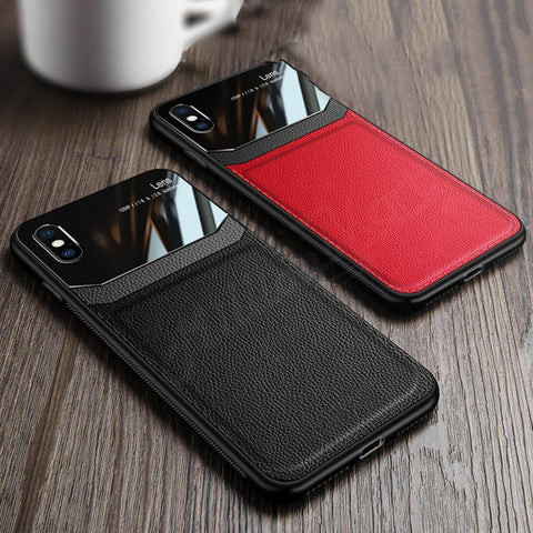 iPhone XR Sleek Slim Leather Series Case with Card Slot