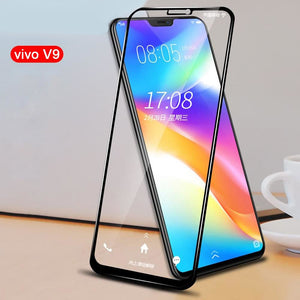 Premium 5D Pro Full Glue Curved Edge Anti Shatter Tempered Glass Screen Protector for Vivo V9