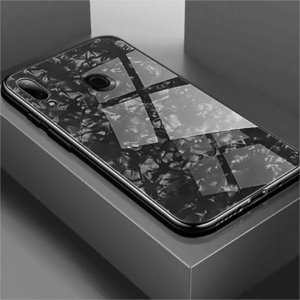 Luxury Explosion Proof Marble Pattern Tempered Glass Hard Back Case Cover for Samsung Galaxy A30