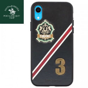 Luxury Santa Barbara Polo & Racquet Club Number 3 Leather Back Case Cover for Apple iPhone XR