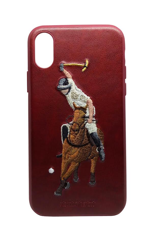 best website ebade 34f58 Luxury Santa Barbara Polo & Racquet Club Vintage Leather Back Case Cover  for Apple iPhone XS Max