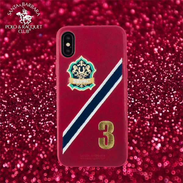 Luxury Santa Barbara Polo & Racquet Club Number 3 Leather Back Case Cover for Apple iPhone XS Max