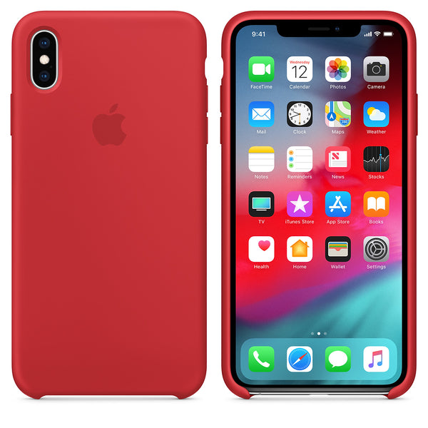 "Premium Shockproof Soft Liquid Silicone Case Bumper Back Cover for Apple iPhone XS Max (6.5"")"