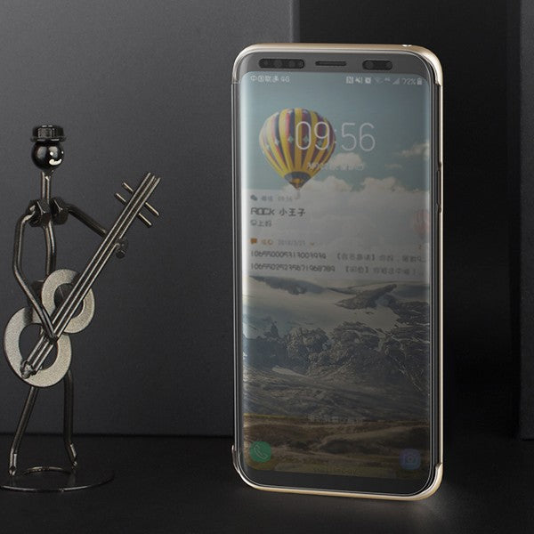 Premium Smart View 360 Full Body Protection Touchable Flip Case Cover for Samsung Galaxy S9