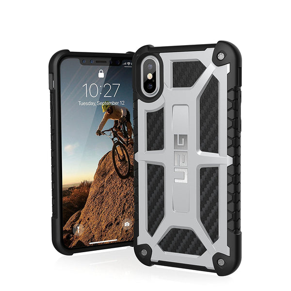 Military Tested UAG Monarch Carbon Fiber Robust Back Case Cover for Apple iPhone X