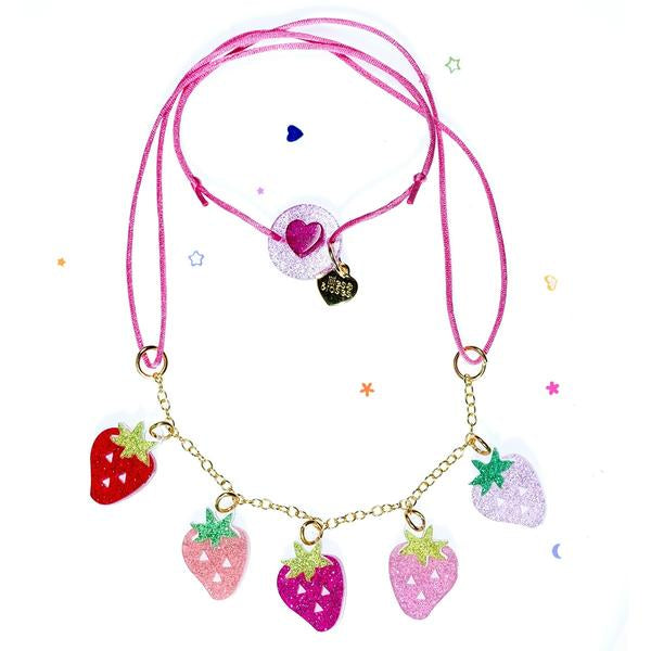 Strawberry Necklace -  Lilies & Roses NY