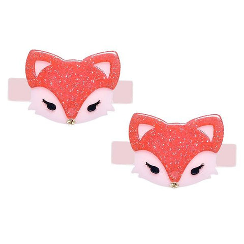 Glitter Fox Alligator Clips