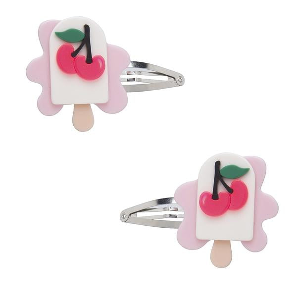 Melting Cherry Popsicle Hair Clips -  Lilies & Roses NY
