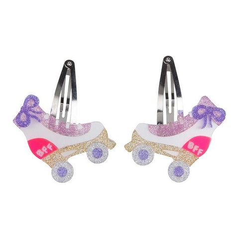 Roller Skate Hair Clips -  Lilies & Roses NY