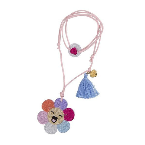 Happy Flower Necklace -  Lilies & Roses NY