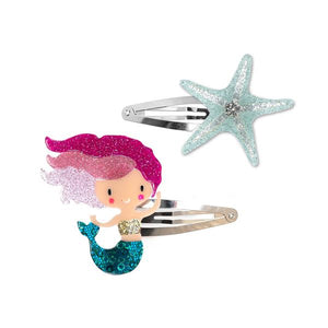 Mermaid + Starfish Hair Clips -  Lilies & Roses NY