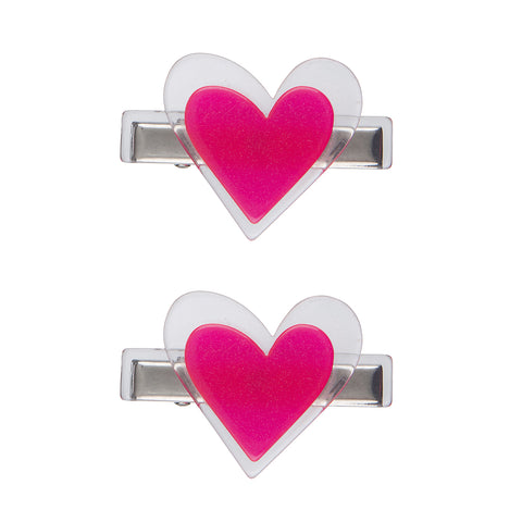 Agatha Heart Alligator Clips