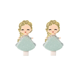 Cute Doll Hair Clips -  Lilies & Roses NY