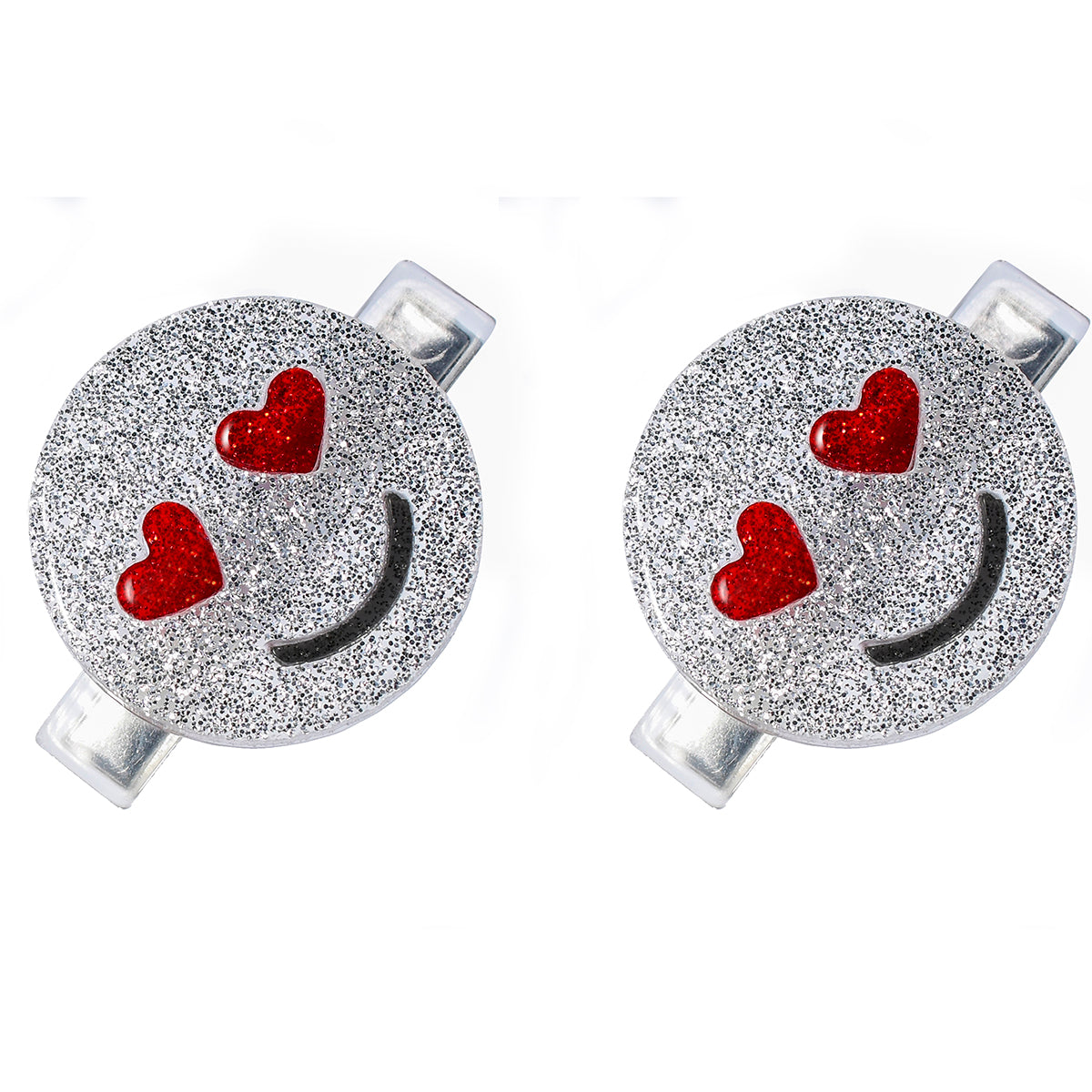 Emoji Love Silver Alligator Clip