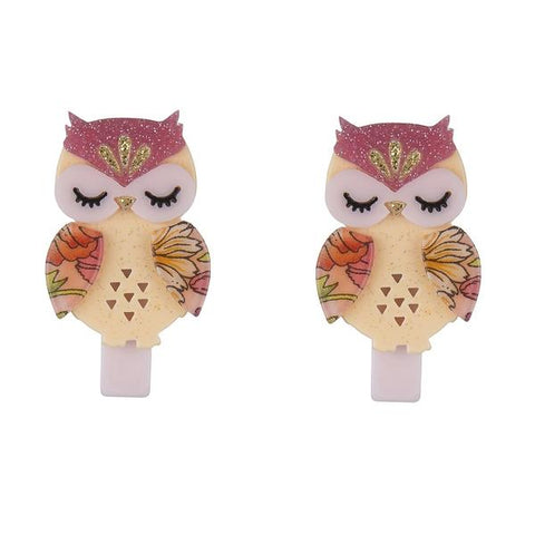 Owl Hair Clips -  Lilies & Roses NY