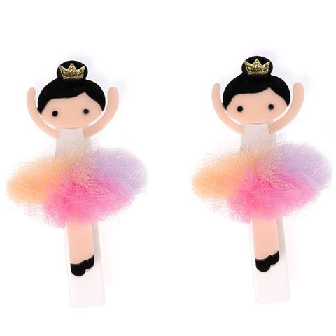 ballerina hair clips, pastel, colorful, tulle tutu