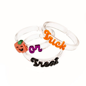 Trick or Treat Pumpkin Halloween Bangles Set