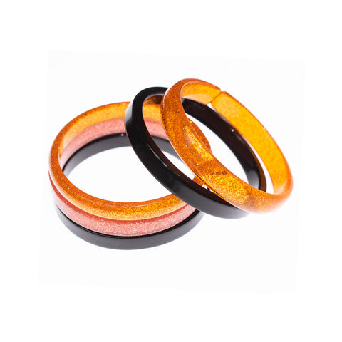 Halloween Colors Bangles - Pack of 5